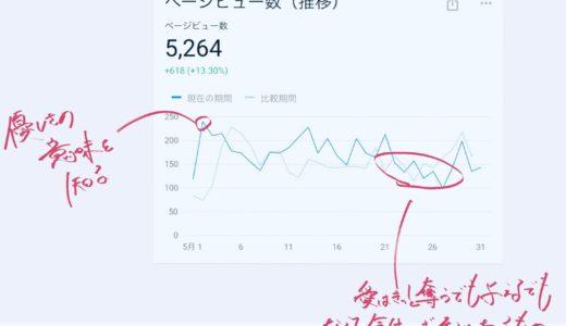 【2019年5月】ブログ運営の振り返り 〜5,000pvに乗りました