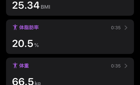 iPhoneのショートカットを使って体重と体脂肪とBMIを一瞬で記録する
